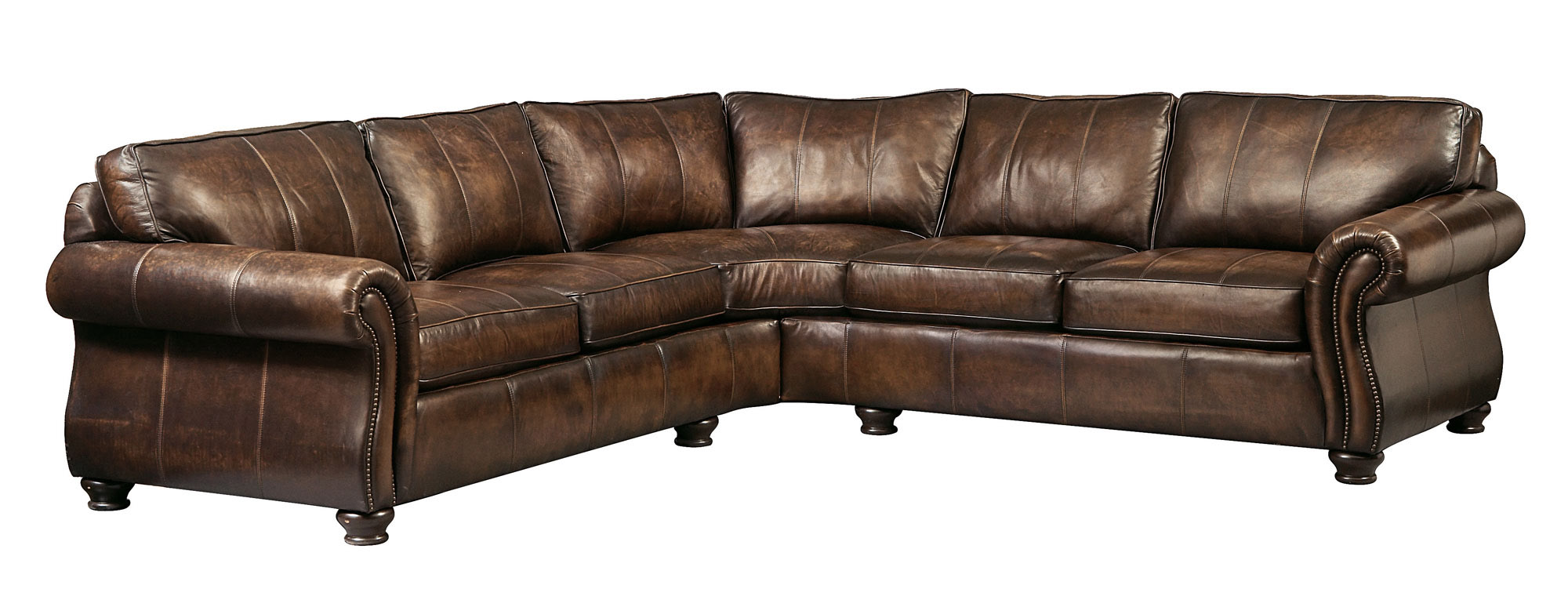 Bernhardt leather sofa roselawnlutheran for Leather sectional sofa