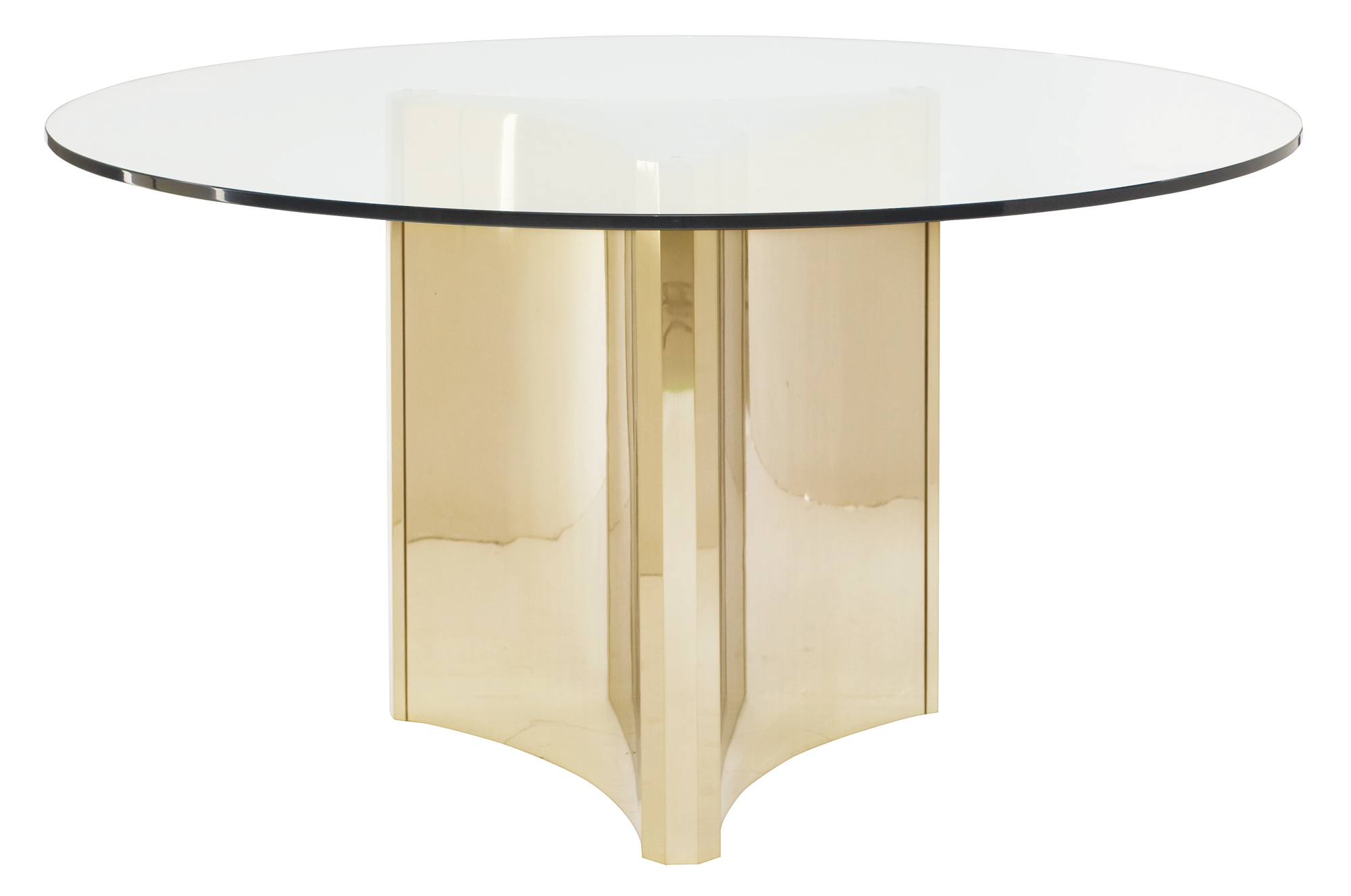 Round Metal Dining Table With Glass Top Bernhardt
