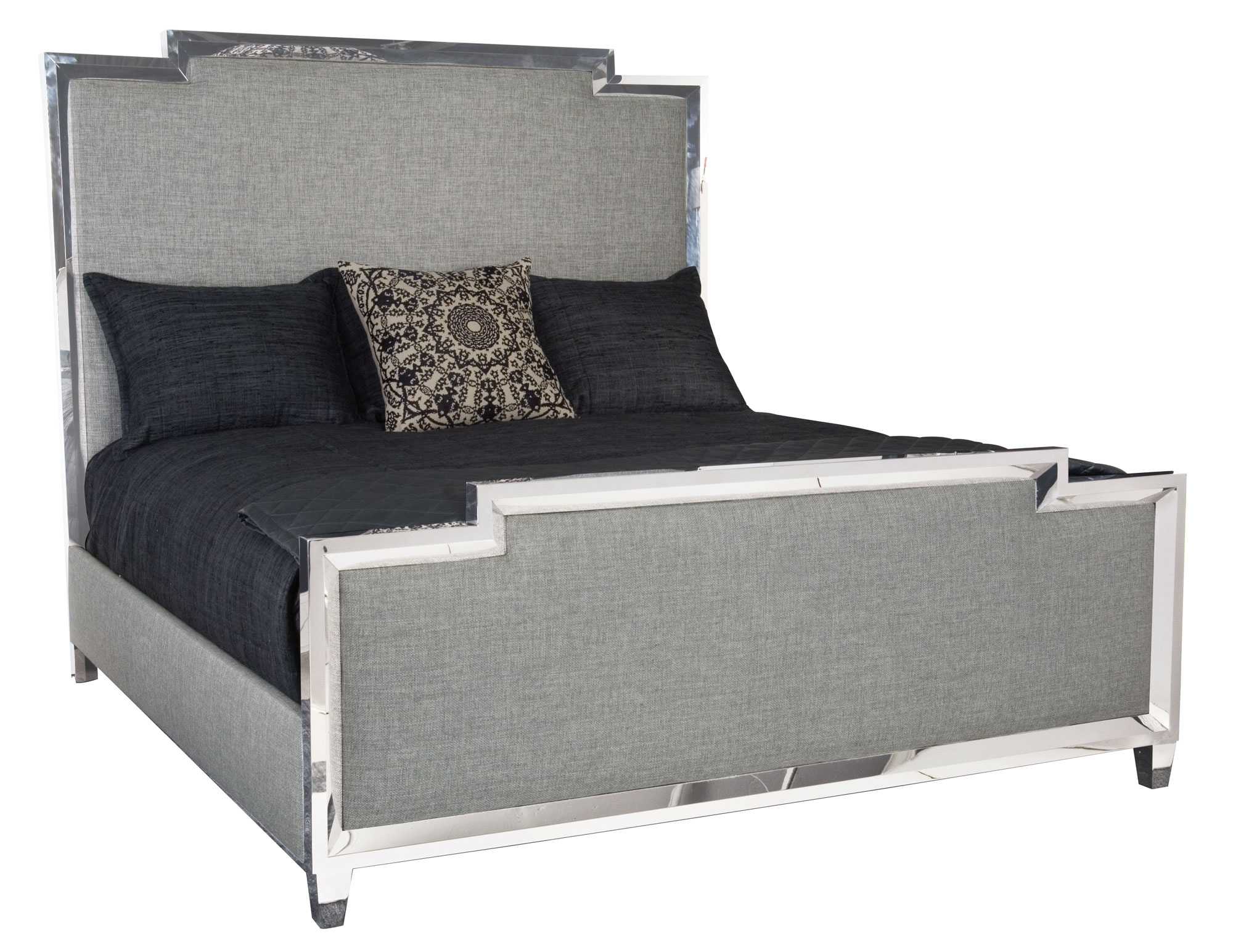 Metal Upholstered Panel Bed Bernhardt
