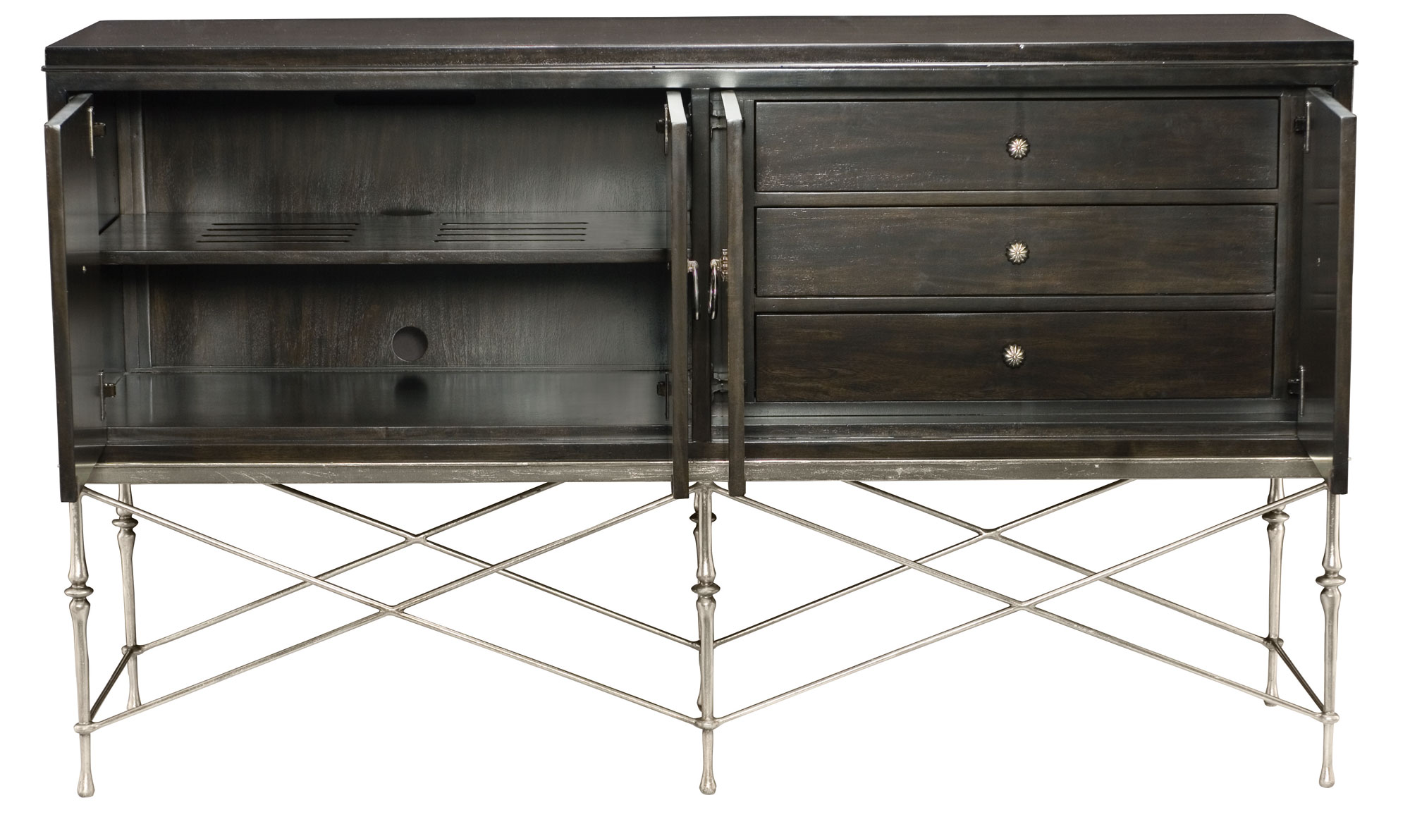 buffet and metal base bernhardt. Black Bedroom Furniture Sets. Home Design Ideas