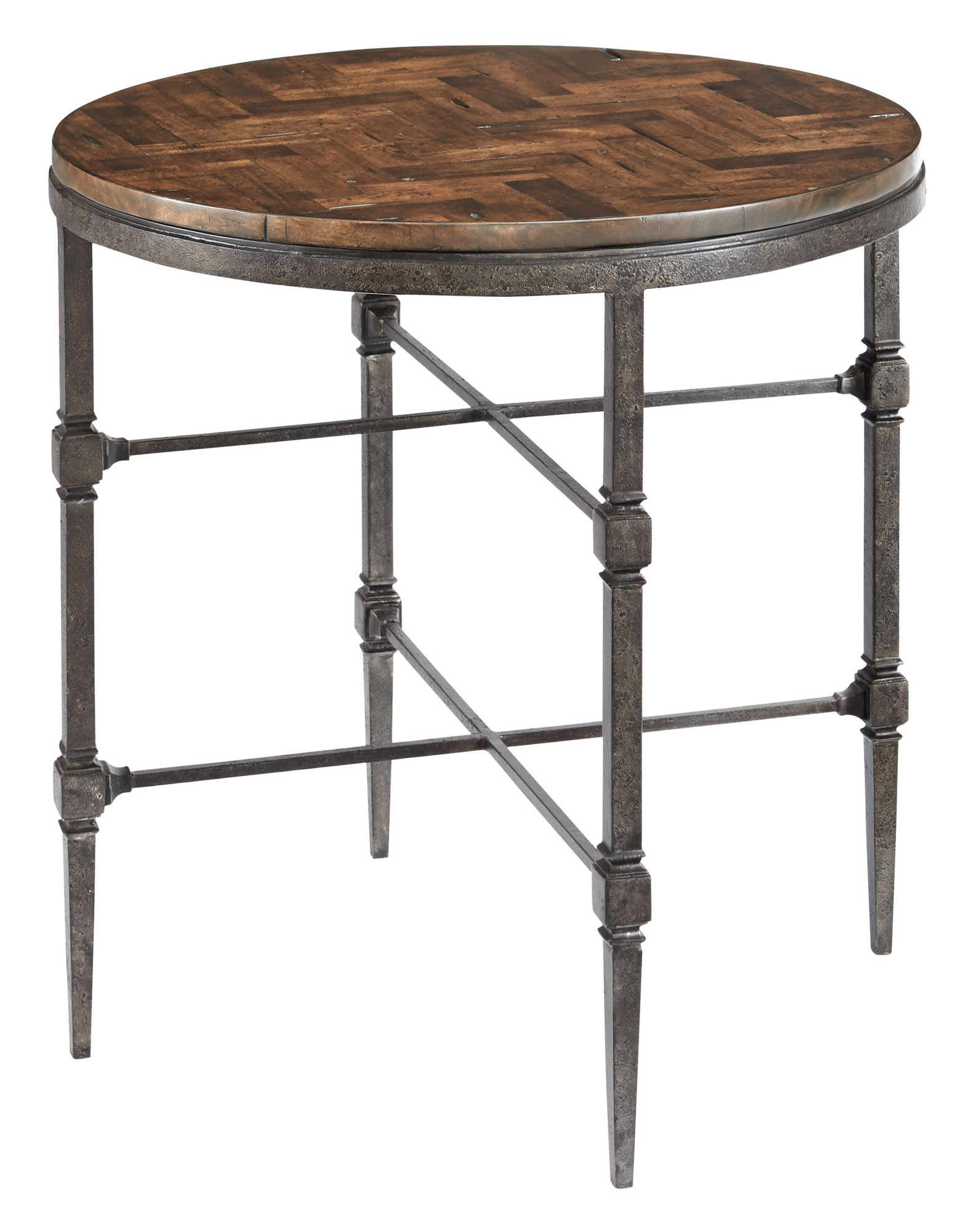 End Table With Wood Top And Metal Base Bernhardt