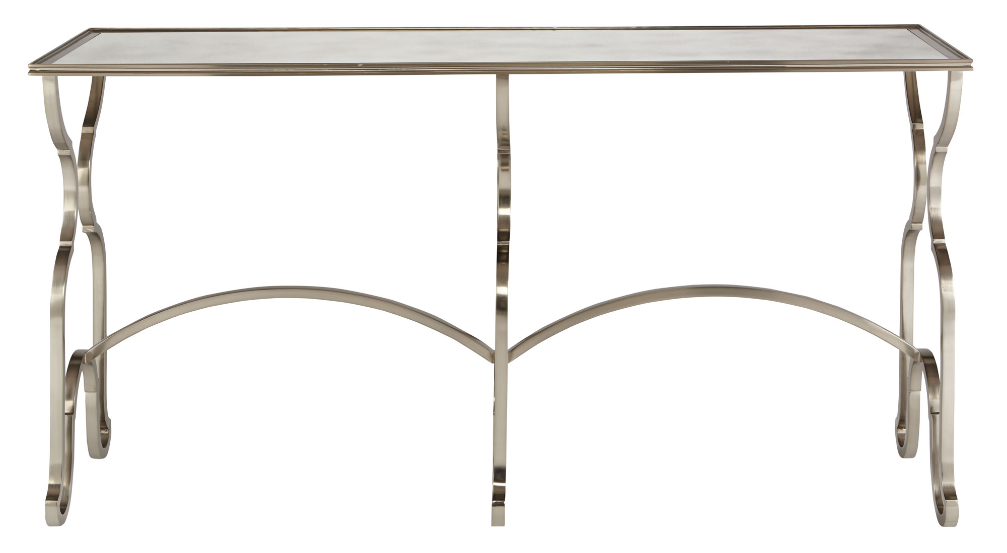 Metal console table bernhardt Metal console table