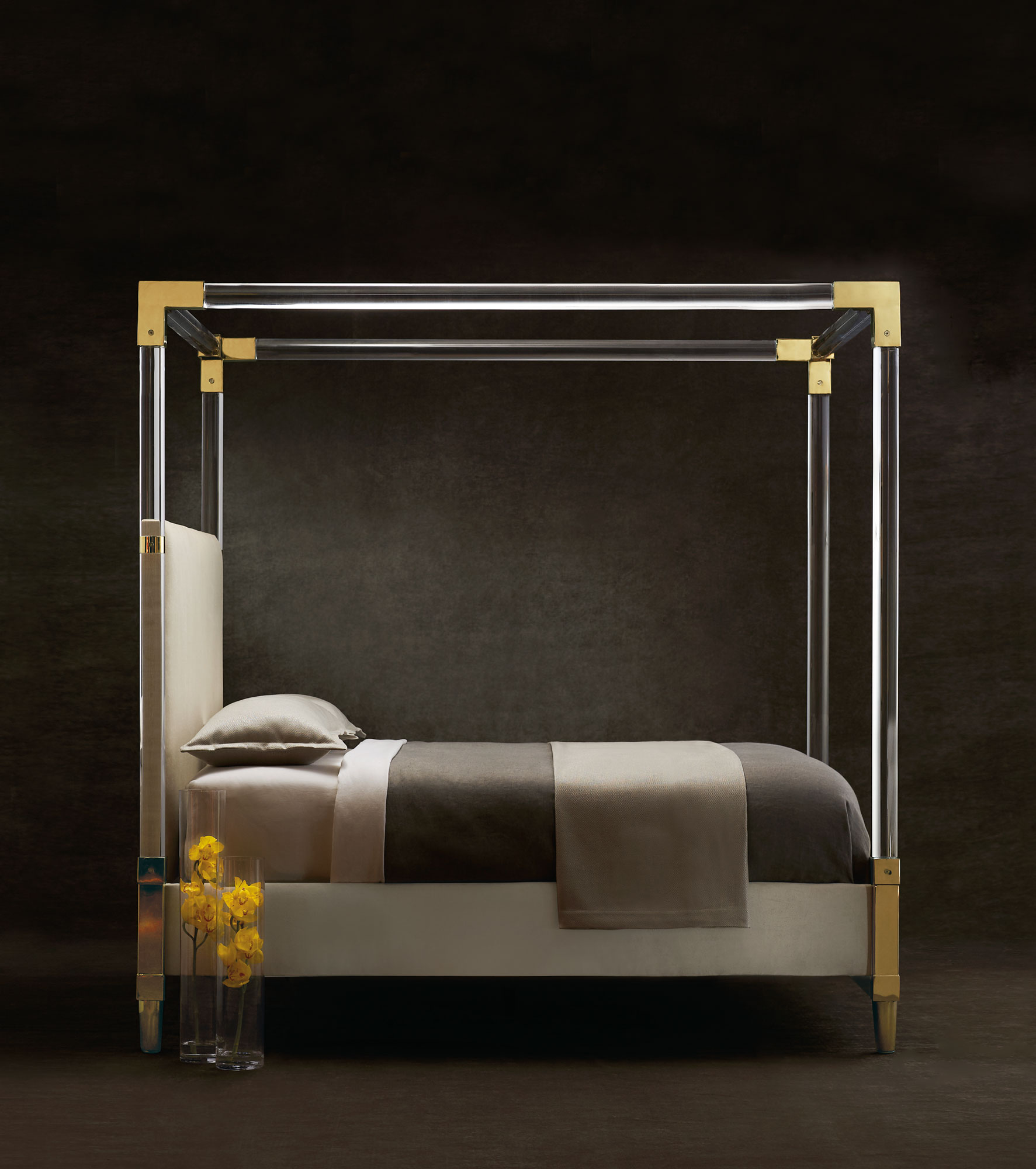 Aiden Acrylic Bed Bernhardt