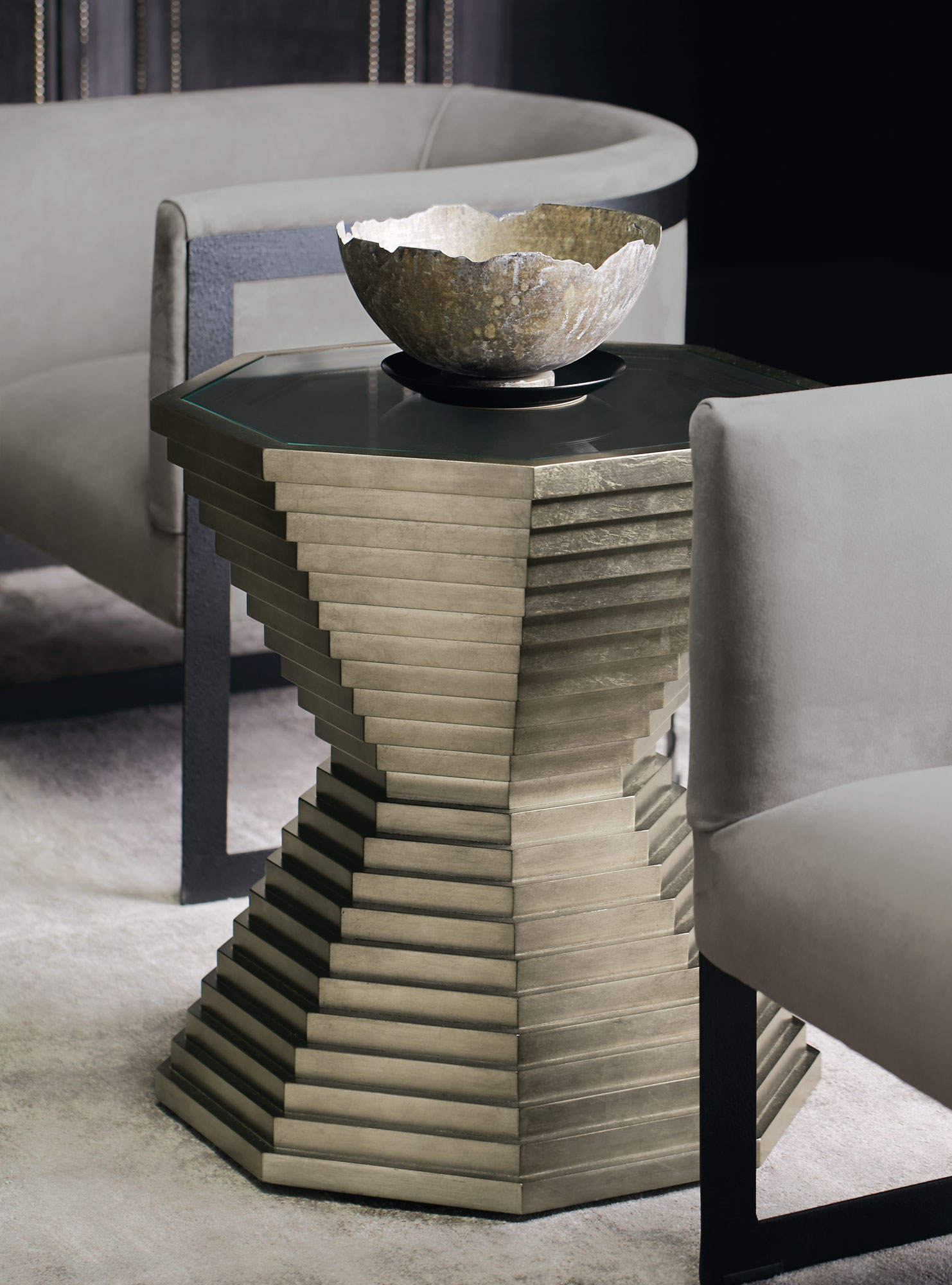 Mosaic End Table Zola Chair Bernhardt