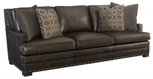 Bernhardt Brown Leather Sectional Sofa