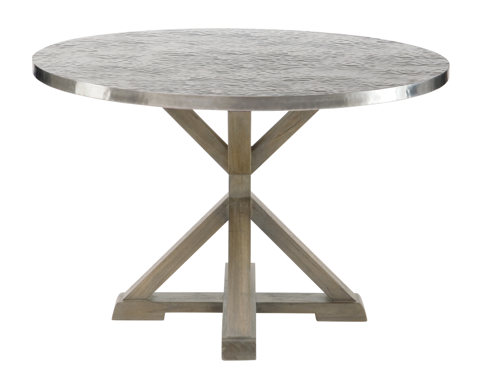 Round metal dining table bernhardt for Steel dining table design