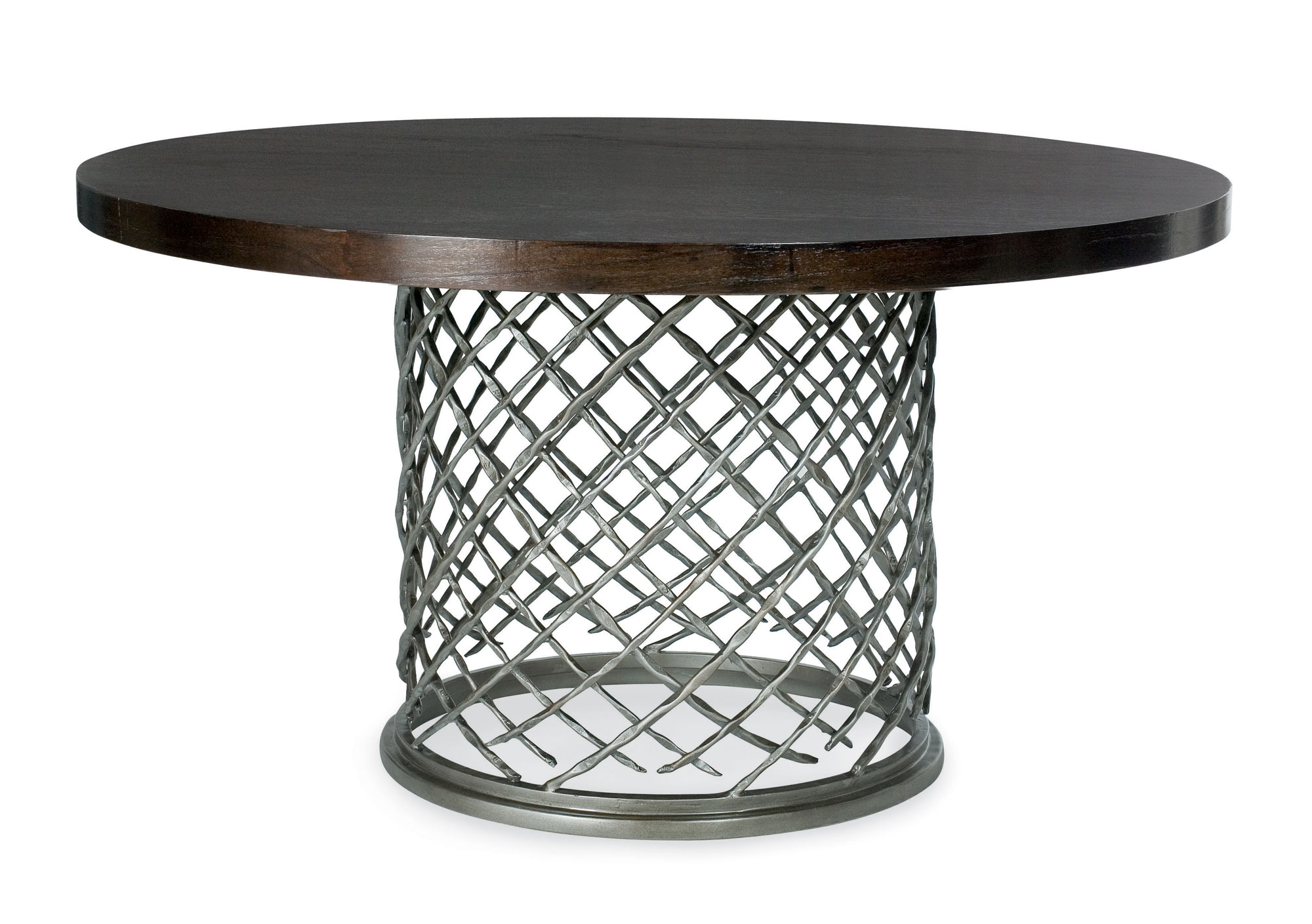 """Metal Dining Table With Wood Top (54"""")"""