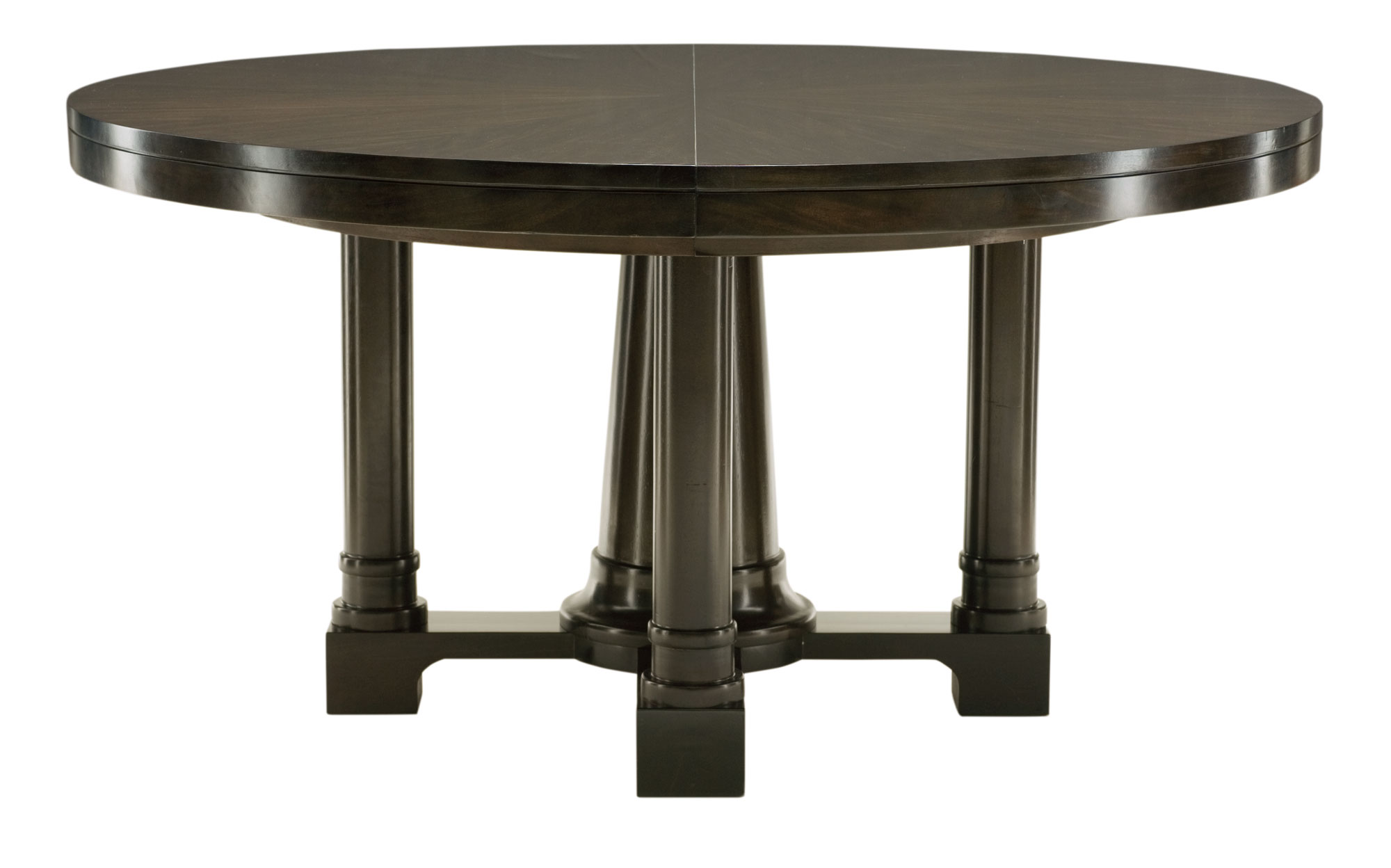 Round dining table top and base bernhardt for Restaurant tables