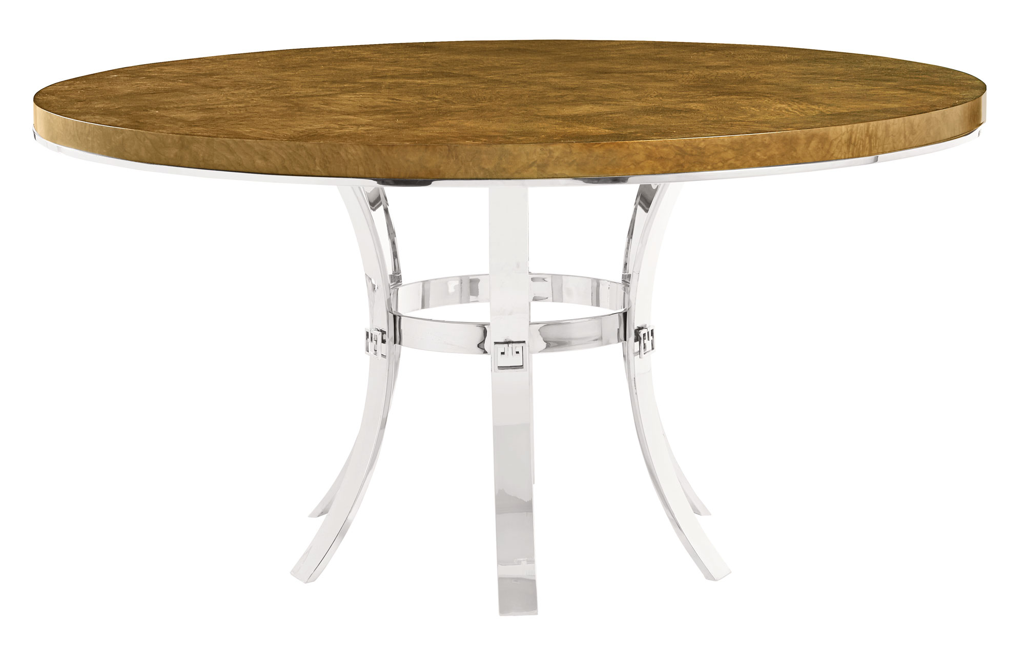 Round dining table and metal base bernhardt Metal table base