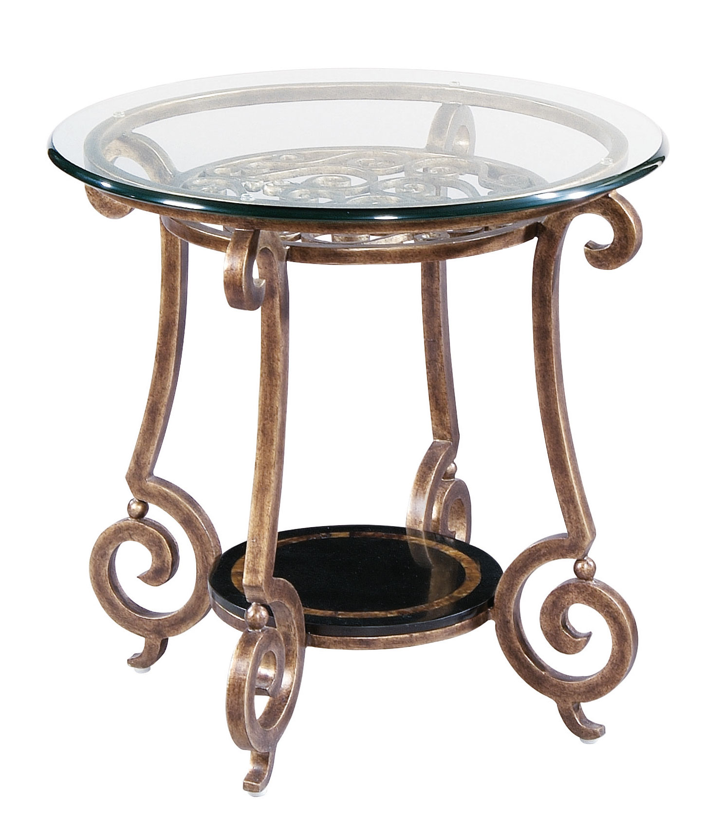 Round end table base and glass top bernhardt - Table base for round glass top ...