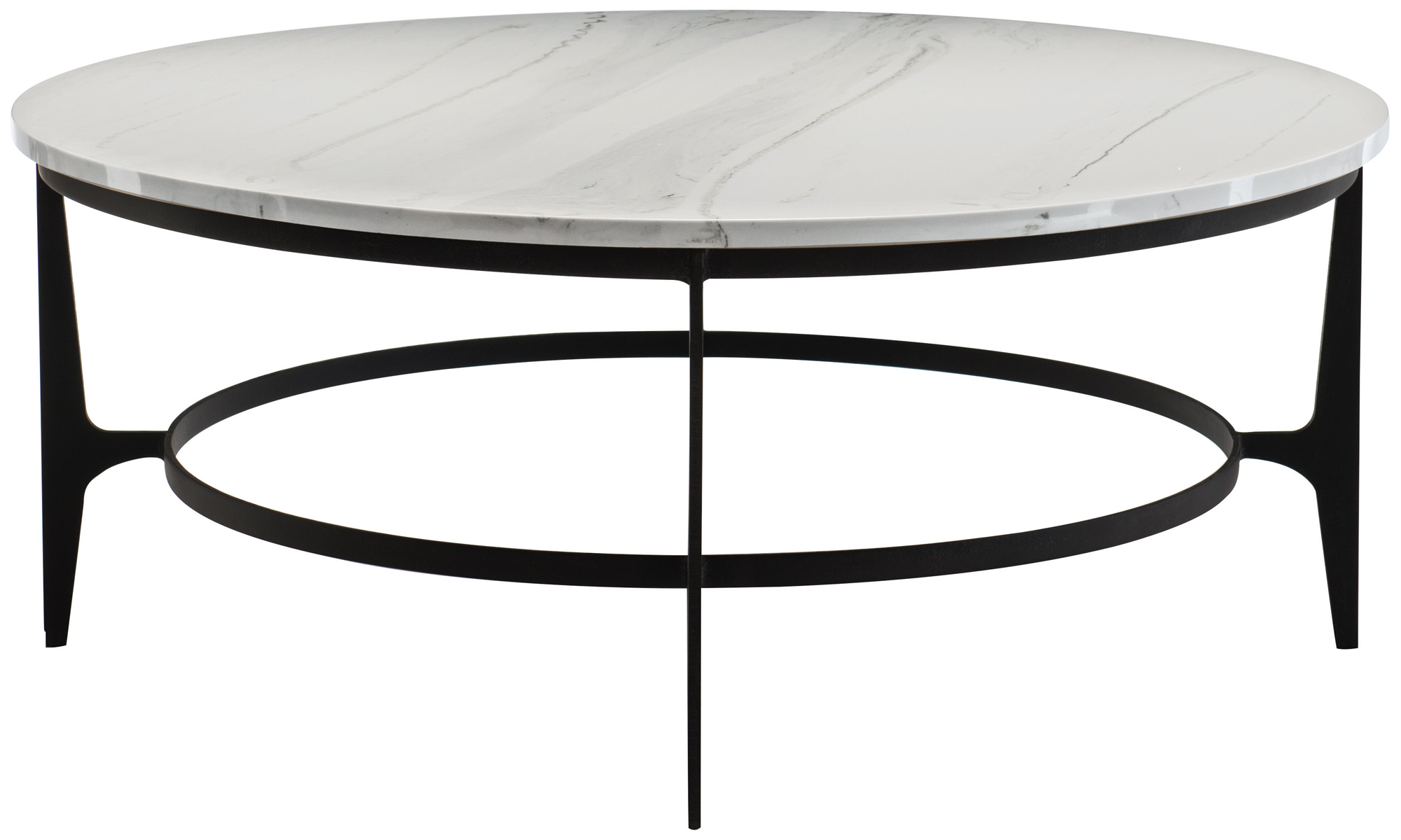 Round metal cocktail table bernhardt for Cocktail tables round