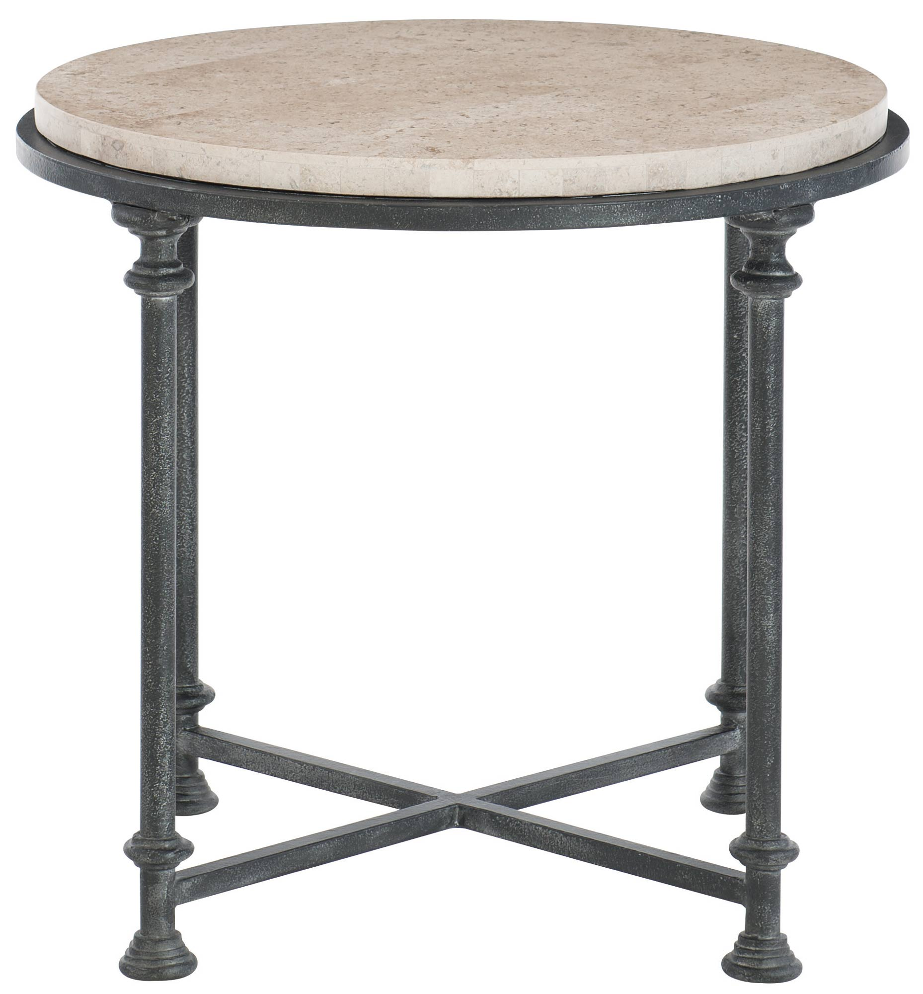 Metal End Tables ~ Round metal end table bernhardt