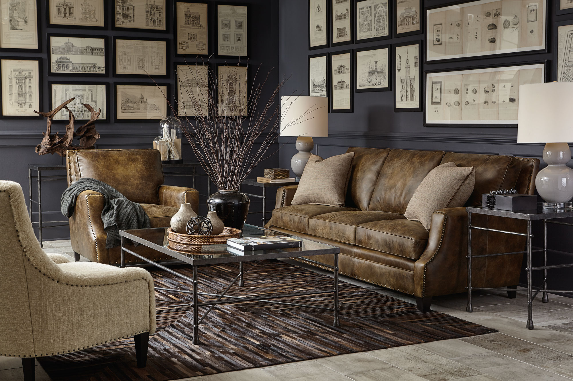 Pollard living room bernhardt for Living room in french language