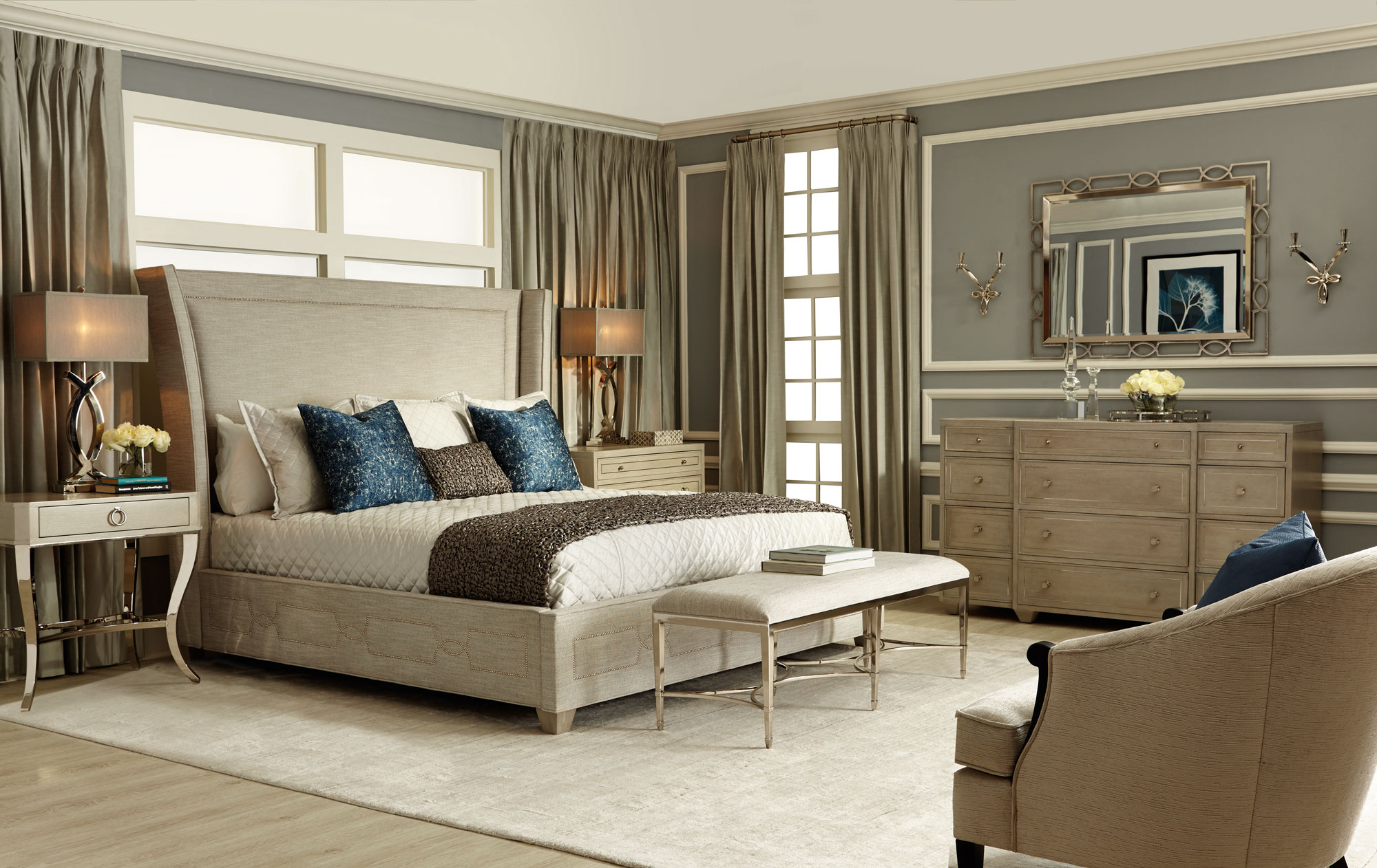 Criteria bedroom bernhardt for Dining room tables knoxville tn