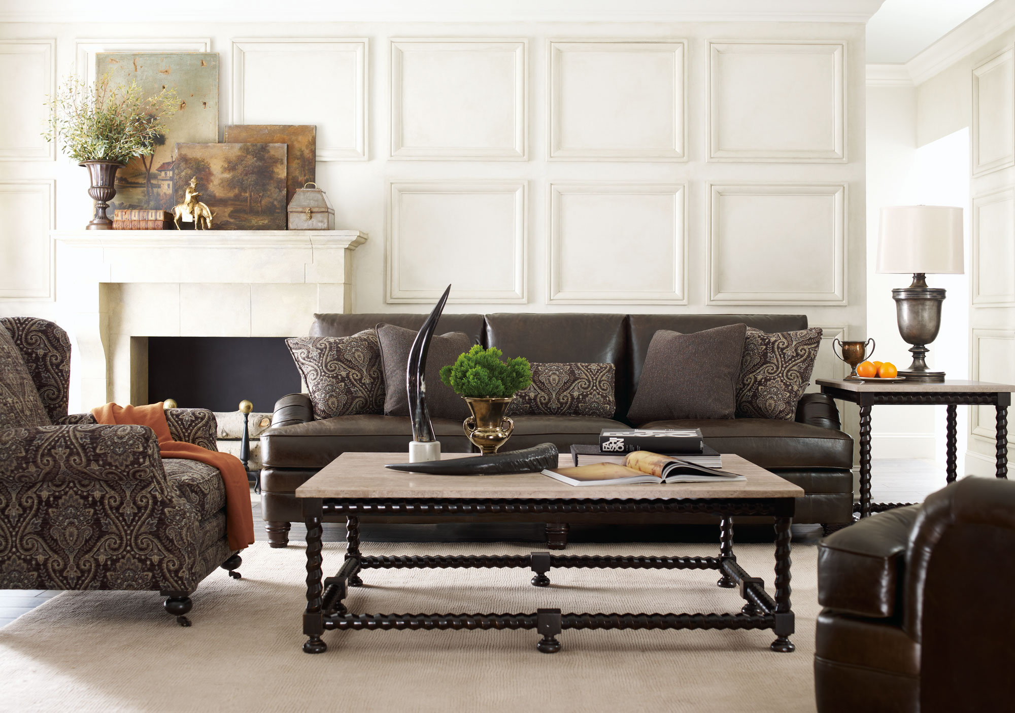 Tarleton Sofa, Justin Chair, Cordova Tables