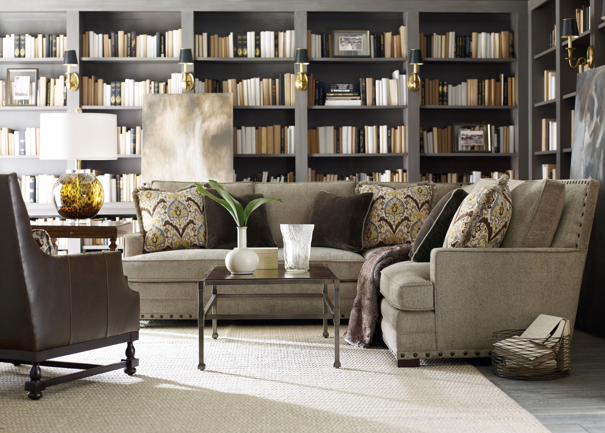 Cantor sectional dorval huntington square bernhardt Bernhardt living room furniture