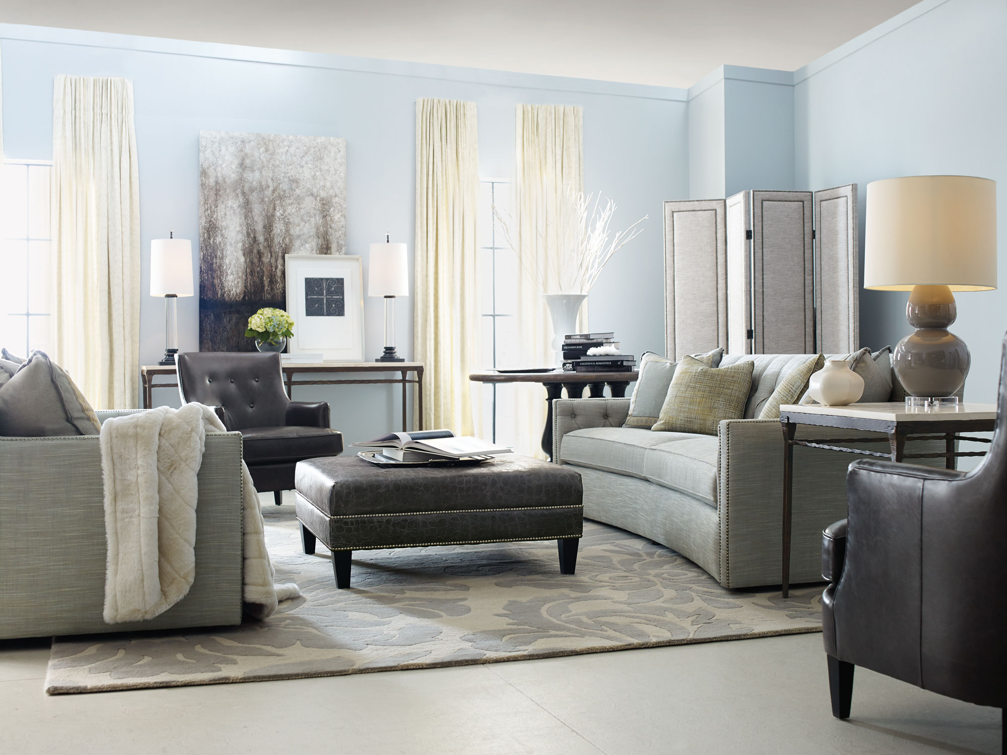 Candace ferrell rancho desmond rialto living room bernhardt Bernhardt living room furniture