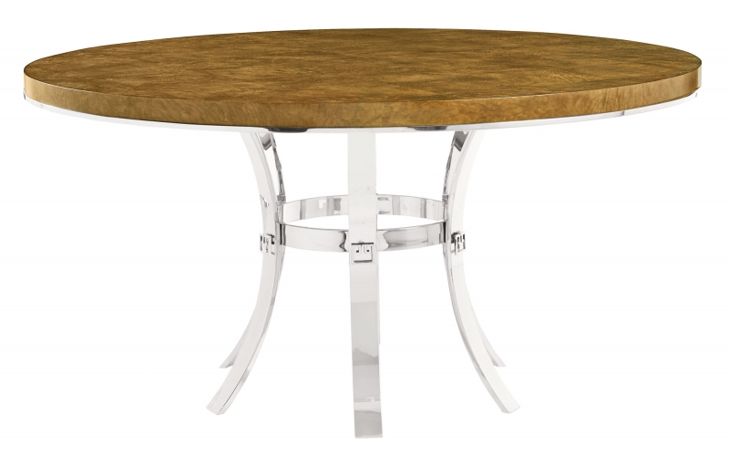 Round Dining Table And Metal Base