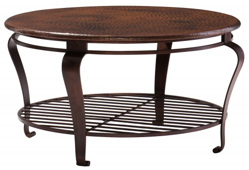 Oval cocktail table bernhardt for Oval copper coffee table