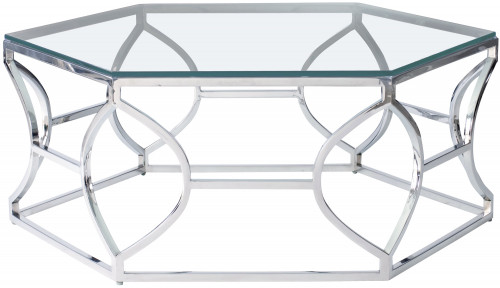 Ordinaire Cocktail Table. 375 023. Bernhardt Interiors. Argent