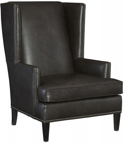 Nathan Black Leather Chair85