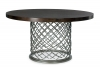 Metal Dining Table With Wood Top 54 Quot Bernhardt